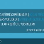 E-Commerce Rückblick: Blogmarks 07/17