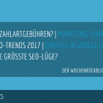 E-Commerce Rückblick: Blogmarks 03/17
