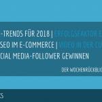 E-Commerce Rückblick: Blogmarks 20/17