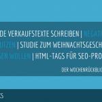 E-Commerce Rückblick: Blogmarks 27/17