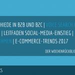 E-Commerce Rückblick: Blogmarks 31/17