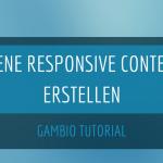 Im Gambio-Shop eigene responsive Contents erstellen