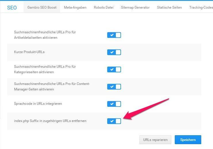 URL-Struktur im Gambio-Shop optimieren - SEO-Update