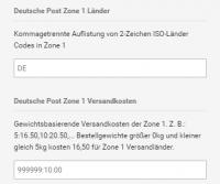 versandkosten deutsche post
